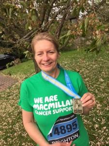 Tracey Rowland 2015 Brighton Marathon