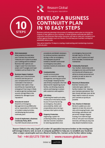 Business Continuity Plan - 10 Easy Steps