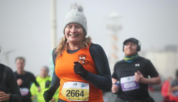 Tracey runs the Brighton Half